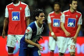 Falcao celebra un gol de esta temporada frente al Sporting de Braga