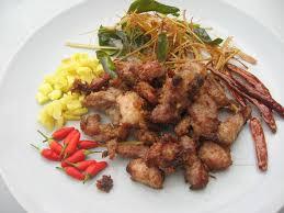modern thai food fried fermented country style ribs nhame