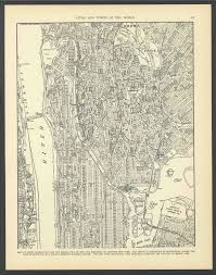 Street Map Of New York City by Vintage Street Map Upper Manhattan New York City New York From