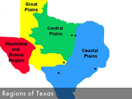 Texas Map Outline Texas 4 Regions Map My Blog