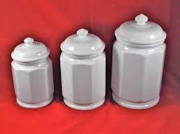 lot of 3 preferred stock kitchen canister set ceramic stoneware