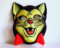 halloween mask costumes vintage halloween mask 1950s cat children u0027s fluorescent costume