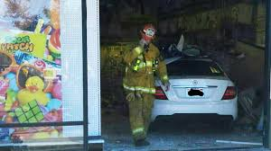 party city halloween costumes in stores 4 children injured after car plows into san dimas party city store
