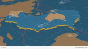 Tectonic Plate Map Australian Tectonic Plate Solids Stock Animation 6635160