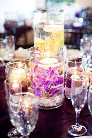 Purple Floating Candles For Centerpieces by 11 Best Centerpieces Images On Pinterest Centerpiece Ideas