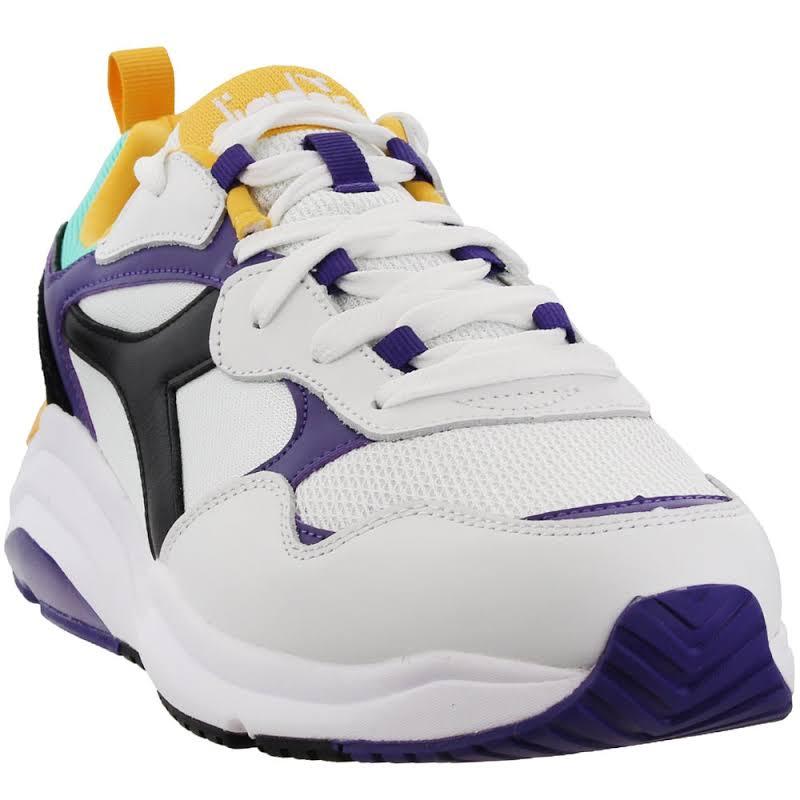 Diadora Whizz Run 174340-C8019 White Chunky Low Top Sneakers Shoes