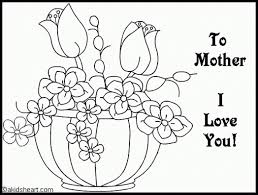 coloring page for mothers day coloring page pedia