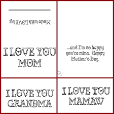 cut craft create 8 free mother u0027s day card printables coloring