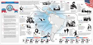 Labeled Map Of Central America by Half A Century Of U S Interventions In Latin America In One Map