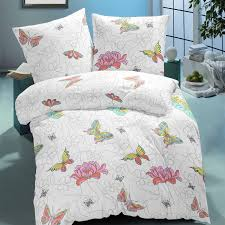 butterfly cotton bed linen set duvet cover u0026 pillow cases