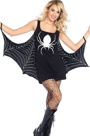Bat Costumes Halloween Black Spider Woman Bat Dress Halloween Cosplay Costume Fantasy