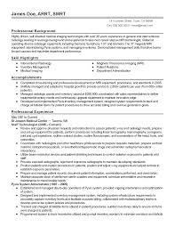 View Resume Samples by Professional Medical Imaging Technician Templates To Showcase Your
