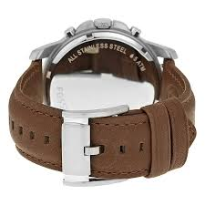 fossil black friday 2017 fossil grant chronograph black dial brown leather men u0027s watch
