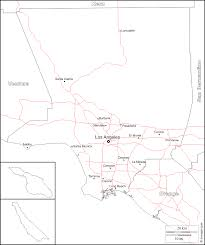 Los Angeles County Map by Los Angeles County Free Map Free Blank Map Free Outline Map