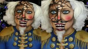 Halloween Male Makeup Wooden Nutcracker Makeup Tutorial Jordan Hanz Face Painting