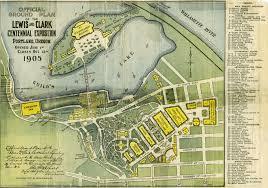 Lake Powell Map Lewis U0026 Clark Exposition Map 1905 Vintage Portland
