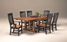 intercon dining room rustic mission trestle table top rm ta 44108