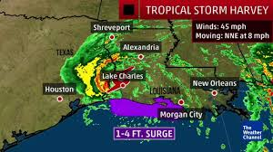 louisiana harvey u0027s flood threat spreads north the weather channel