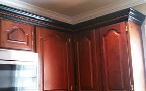 Crown Moulding Kitchen Cabinets Cherry Cabinets Black Molding Black Crown Molding Kitchens In