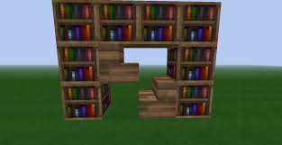 bookcase minecraft home doherty house how build bookcase