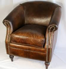 phenomenal distressed leather chair for home decor ideas with