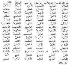 Allah'ın 99 ismi(esmaül hüsna)
