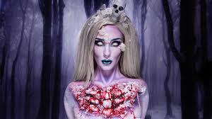 santa muerte sugar skull halloween tutorial by ellimacs