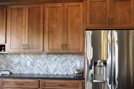 Kitchen Tile Backsplash Design Ideas Kitchen Ideas Oak Wood Kitchen Cabinet With Brown Marble