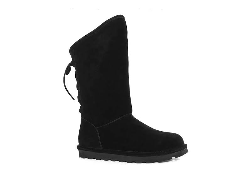 Bearpaw Phylly Black Ii Mid-Calf Suede Over-the-Knee 8M
