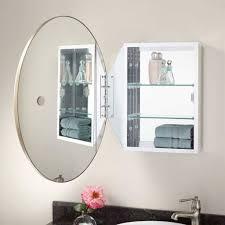 Mirrored Medicine Cabinet Doors by Bathroom Excellent Oval Bathroom Mirror Cabinet Wall Mounted