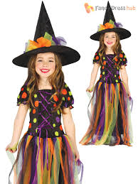 kids girls toddler miss matched witch costume halloween fancy
