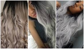 Grey Human Hair Extensions by How I Achieved My Gray Ombre Hair How To Naomi Chanel Laing