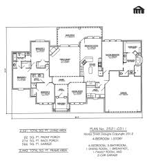 one story open floor plans with 4 bedrooms bedroom 1 story 3