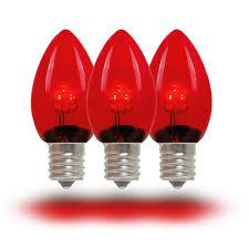 red led c7 glass christmas bulbs novelty lights