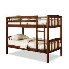 Two Twin Beds In Small Bedroom Dorel Belmont Twin Bunk Bed Walnut
