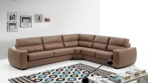 Small L Shaped Sofa Bed by Decor Brown Leather Sectional Sofa Plus Area Rug And Table For