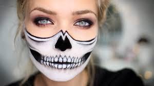 The 15 Best Sugar Skull Makeup Looks For Halloween Halloween by Half Skull Halloween Makeup Tutorial Youtube
