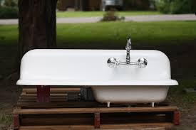 Vintage Kitchen Backsplash Kitchen Sink With Drainboard And Backsplash Sinks And Faucets