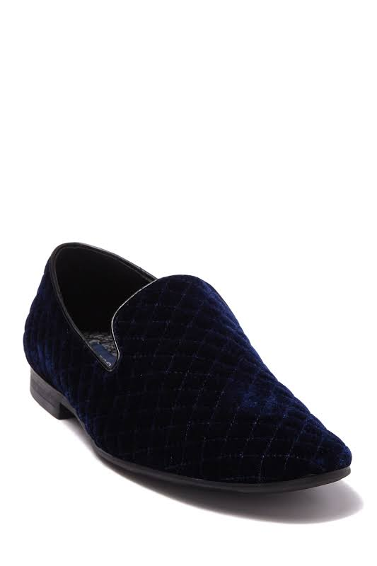 Giorgio Brutini Chatwal 176273 Blue Canvas Casual Slip On Loafers Shoes