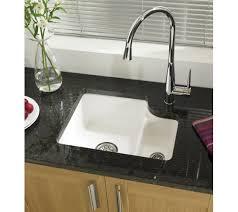 Ceramic Glossy White Kitchen Sink  Bowl Only  Includes - Ceramic white kitchen sink