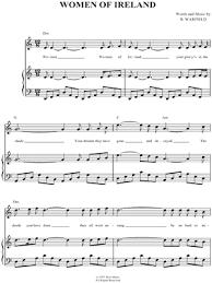 The Wolfe Tones  quot Women of Ireland quot  Sheet Music in C Major     The Wolfe Tones  quot Women of Ireland quot  Sheet Music in C Major   Download  amp  Print   SKU  MN
