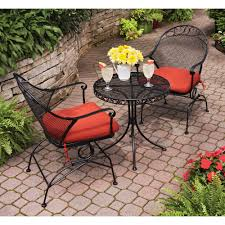 Patio Accents by Best Choice Products 3pc Folding Table Rattan Patio Bistro Set