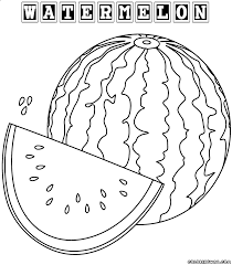 download coloring pages watermelon coloring page watermelon
