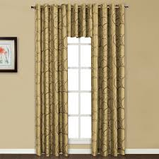 sinclair embroidered grommet top curtain panels and valance
