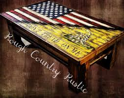 Rebel Flag Home Decor by Concealment Tables Rough Country Rustic Furniture