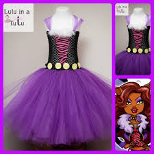 monster high clawdeen wolf inspired tutu dress 0 1ys 20 1 2yrs