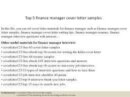 cover letter finance manager   Template