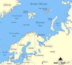 Blank Physical Map Of Russia by Barents Sea Wikipedia