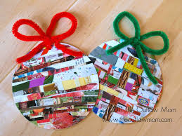 celebrate homemade for the holidays recycled paper ornaments