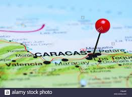A Map Of America caracas pinned on a map of america stock photo royalty free image